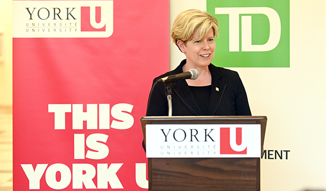 TD Bank Group Head, Customer and Colleague Experience and York alumna Norie Campbell