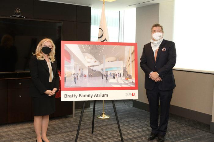 York University President and Vice-Chancellor Rhonda L. Lenton and Chris Bratty